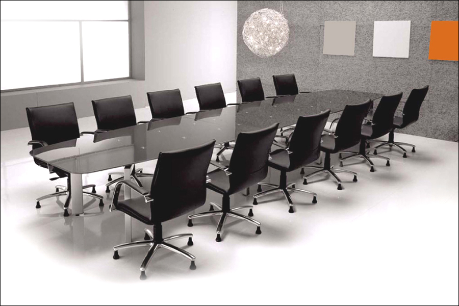 Conference Table - Gray conference table